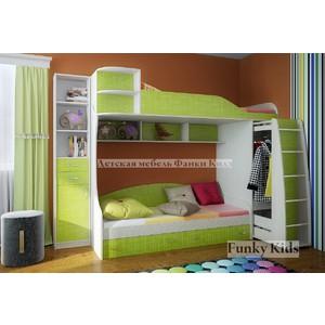 Кровать двухъярусная Фанки Кидз 12 (без стеллажа), зеленый