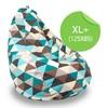 Кресло мешок «Груша»XL, треугольники