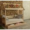 Детская деревянная кровать Избушка 70х160