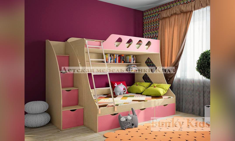 2 х спальная кровать для детей