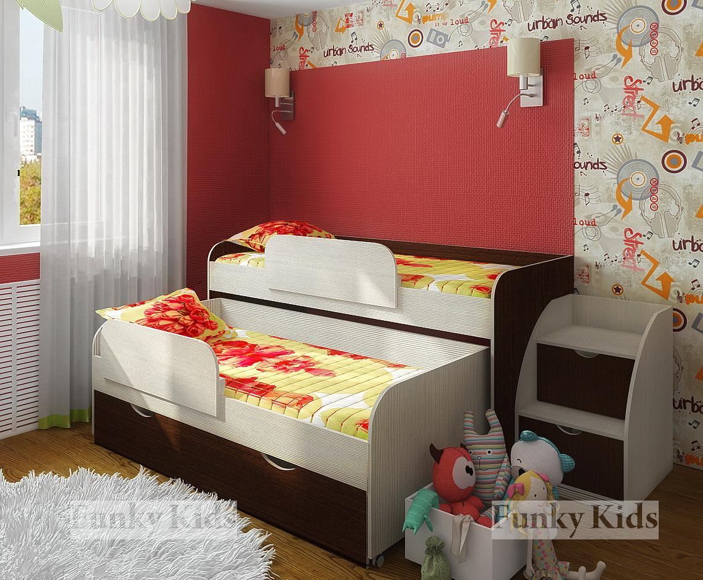Детская мебель для двоих детей. Детские комнаты для двоих 10